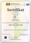 Certified ISO 14001