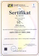 Certified ISO 18001
